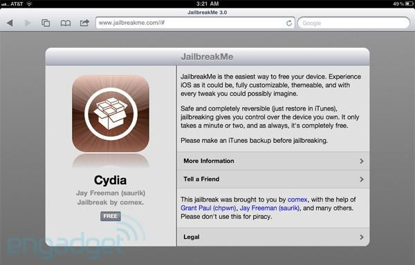JailbreakMe for the iPad 2 is finally live / not live, just keep refreshing (update: video)