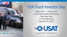 USA Truck to Host Investor Day on May 8, 2019 in New York