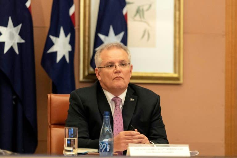 Scott Morrison said the Australian economy was 'fighting back' (AFP Photo/Gary Ramage)