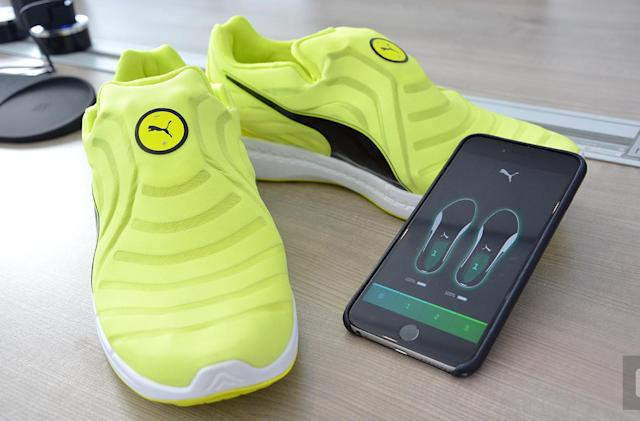 Puma's self-lacing shoes were made for track athletes