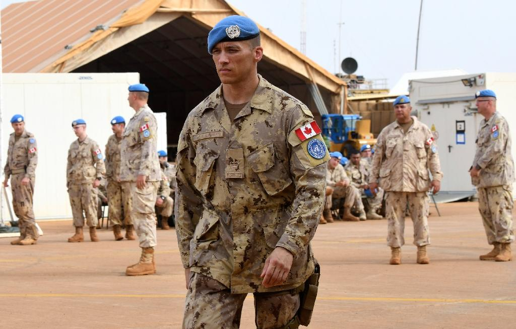 While Canada orginated the concept of peacekeepers in the 1950s, it has not deployed troops on UN peacekeeping missions for more than a decade (AFP Photo/SEYLLOU)