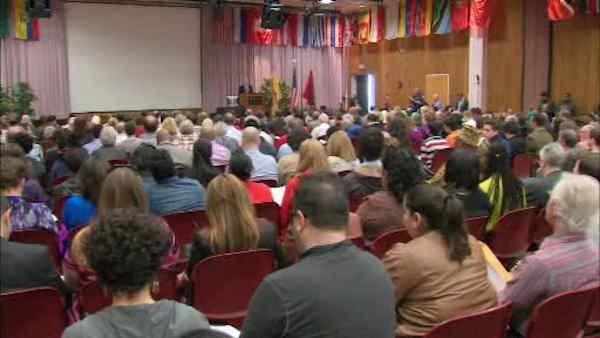 Rutgers president holds townhall meeting