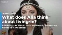 What does Alia Bhatt think about a live-in relationship?