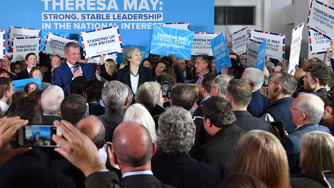 Tories 'drop Conservative name in the north of England to capalise on popularity of Theresa May'