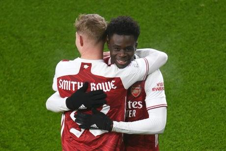 Gareth Southgate thrilled by Arsenal duo Emile Smith Rowe and Bukayo Saka progress