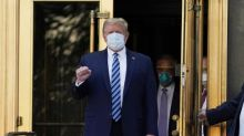 Donald Trump leaves hospital to continue Covid-19 treatment and vows to return to campaign trail soon