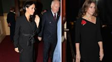 Meghan and Kate join the Queen at the Festival of Remembrance