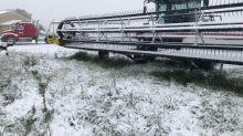 'It's pretty stressful': Snow threatens northwest Sask. harvest