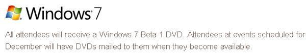 Microsoft Windows 7 beta due out in January 2009?