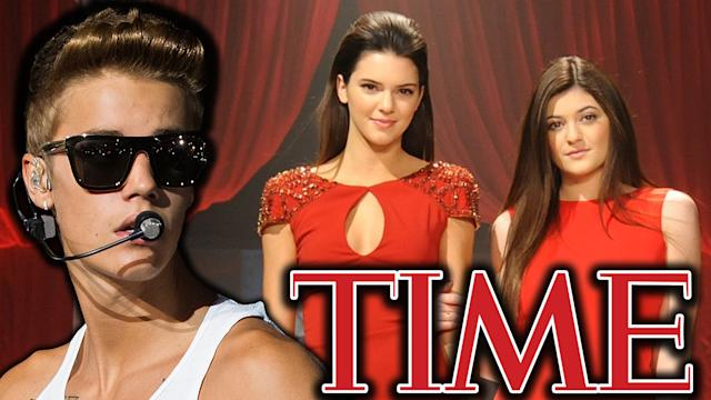 Justin Bieber, Kylie & Kendall Jenner - TIME 2013 Most Influential Teens