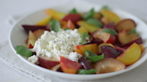 Beet-Plum and Fresh Ricotta Salad