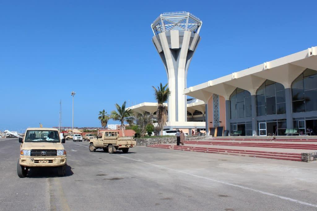 Aden's international airport (AFP Photo/Saleh al-Obeidi)