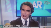 """Aznar vuelve a atacar a Iglesias: """"Es incapaz de mirar a la cara"""""""