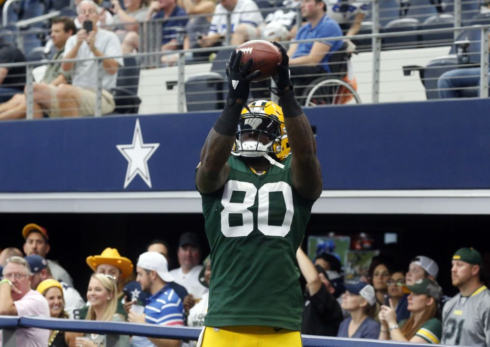 Tight end Martellus Bennett was cut by the Packers and picked up by the Patriots. (AP)