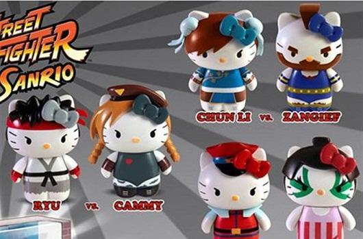 Hello Kitty X Street Fighter plushies, figurines, coin purses for pre-order