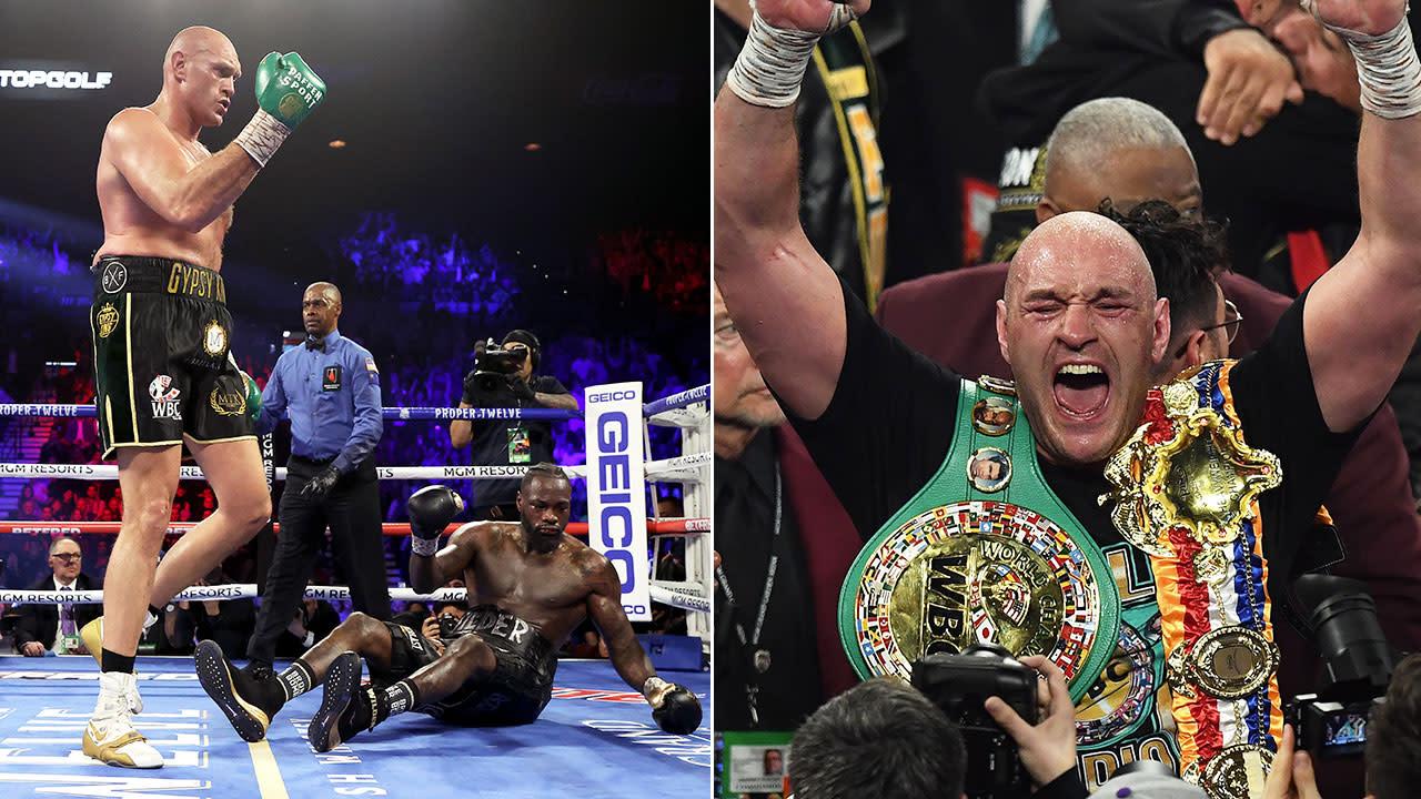 'Domination': Tyson Fury annihilates Deontay Wilder in 'boxing masterclass'