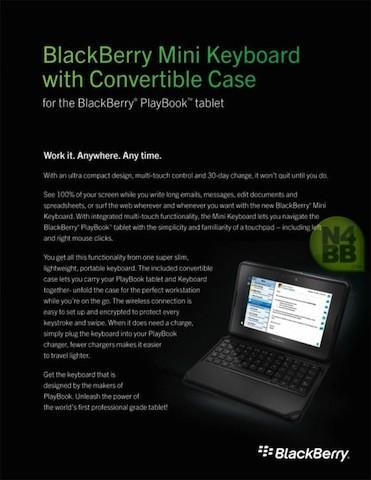 Official BlackBerry PlayBook Mini Keyboard coming on March 23rd for $120?