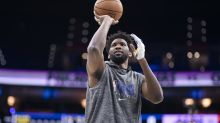 Joel Embiid returns to practice after surgery: 'Next week, I'm hoping to play'