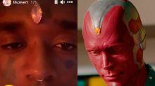 Un rapero se incrusta un diamante en la frente y desata las burlas de los fans de Marvel por su parecido a Visión