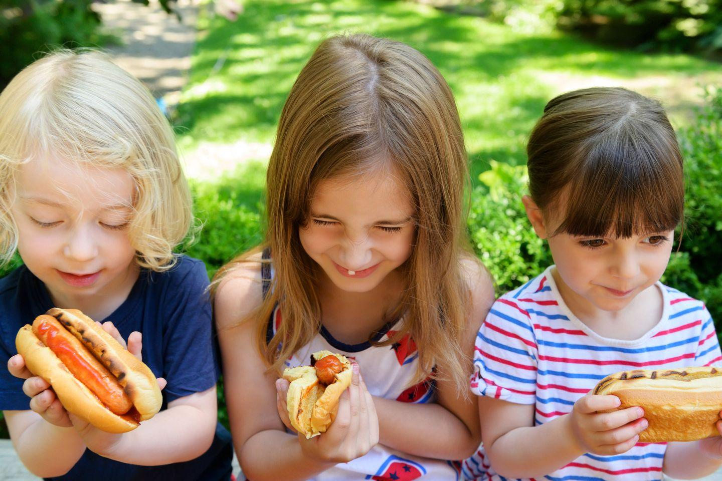 <p>If there's one food that represents the 4th of July, it's hot dogs. If you're feeling adventurous, recreate Nathan's Famous Hot Dog Eating Competition, or if you want something a little more tame (and easier to stomach) try a hot dog taste test where you can try out various relishes and mustards. </p>