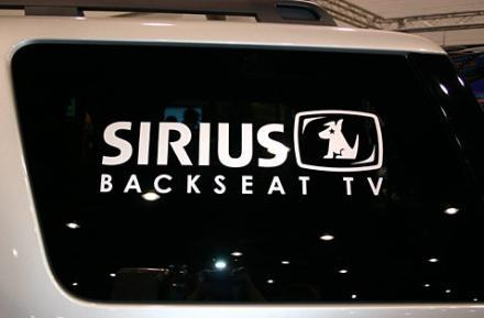 Sirius announces Backseat TV details, Chrysler exclusivity