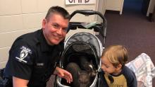 Good News: Mit dieser tollen Aktion bringt ein Polizist Kinder einer Krebsstation zum Lachen
