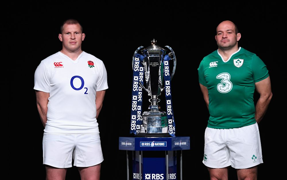 England captain Dylan Hartley (left) and Ireland skipper Rory Best (right) - 2016 Getty Images