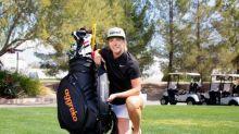 Female Golfer Mel Reid Receives Equipment Bag of Newest Sponsor