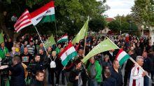 Manifestation de la droite extrême dans l'est de la Hongrie