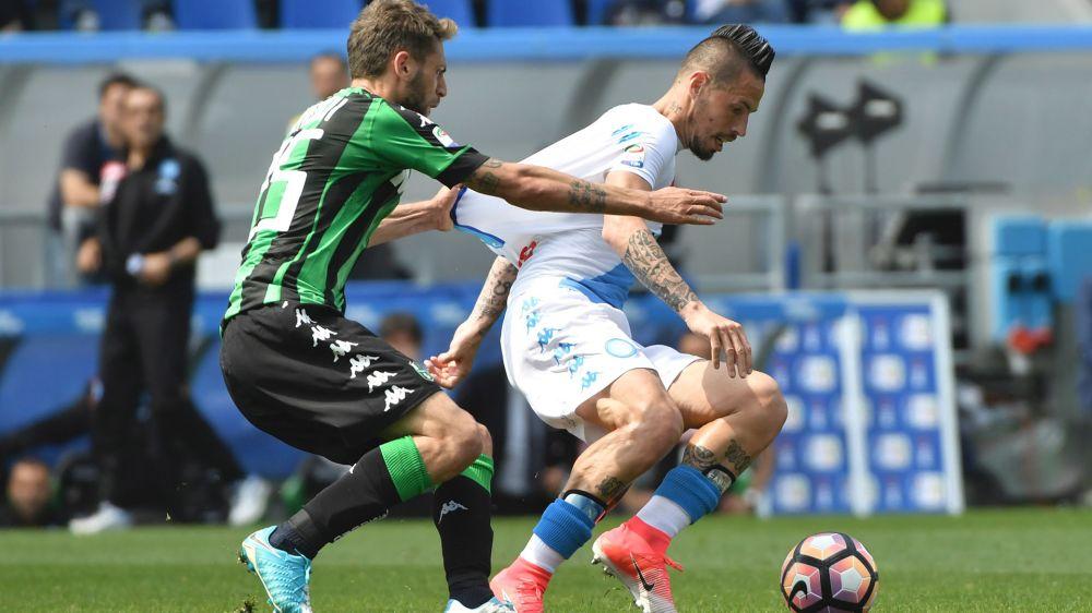 Sassuolo-Napoli 2-2: Gli 'Azzurri' mancano l'aggancio al 2° posto