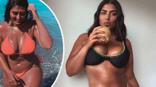Size 16 model in tears over response to viral bikini ad