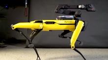 Boston Dynamics' door opening robot dog can now moonwalk to 'Uptown Funk'