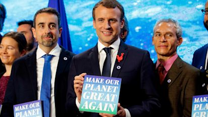 Macron announces grants to 'make our planet great again' in jibe at Trump