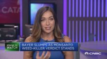 Investors not reacting well to Bayer weed killer case