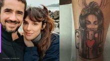Felipe Andreoli tatua rosto de Rafa Brites pelos 10 anos de relacionamento