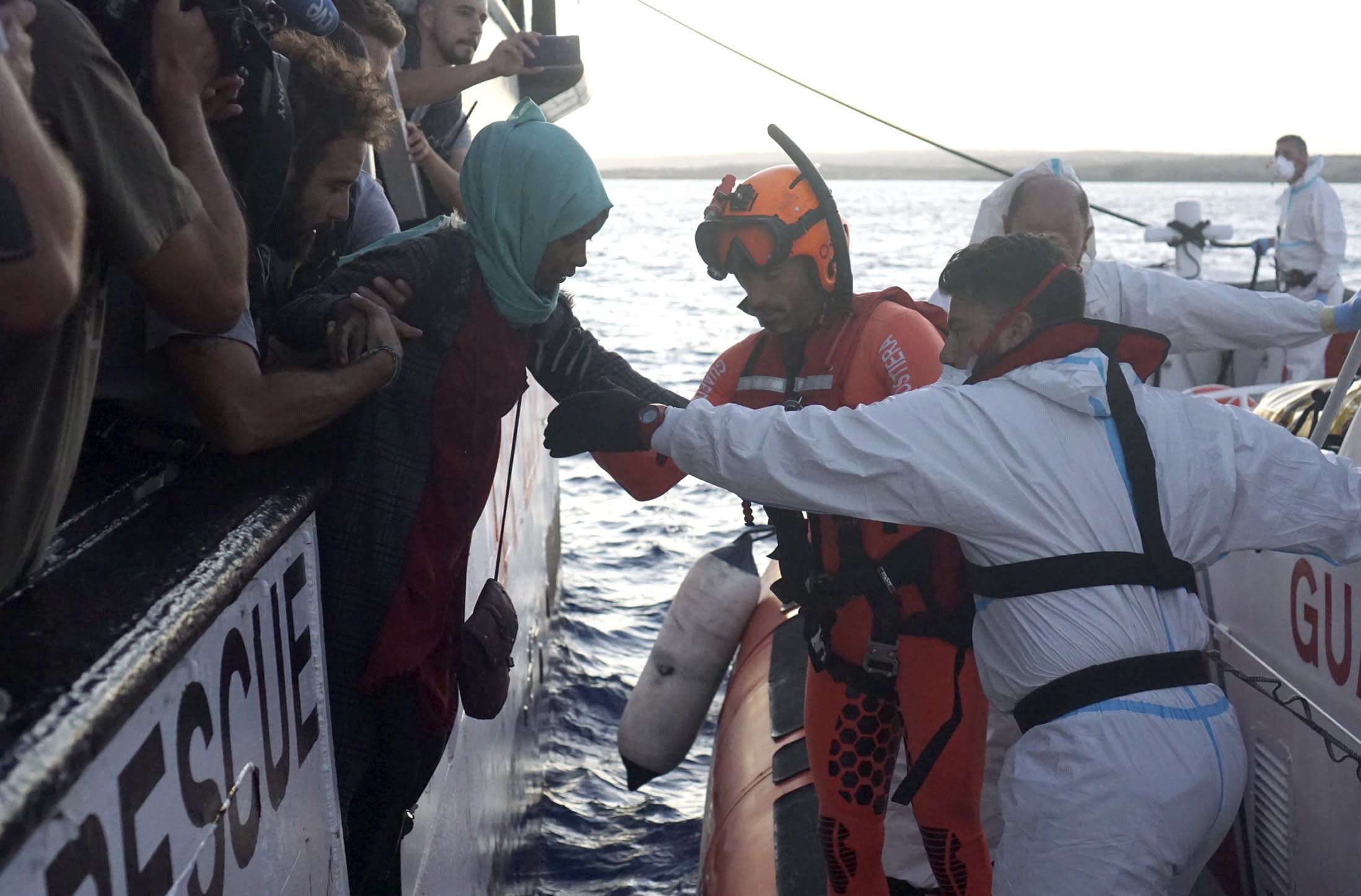 Open Arms rejects offer to dock in Spain, citing 'extreme humanitarian emergency'