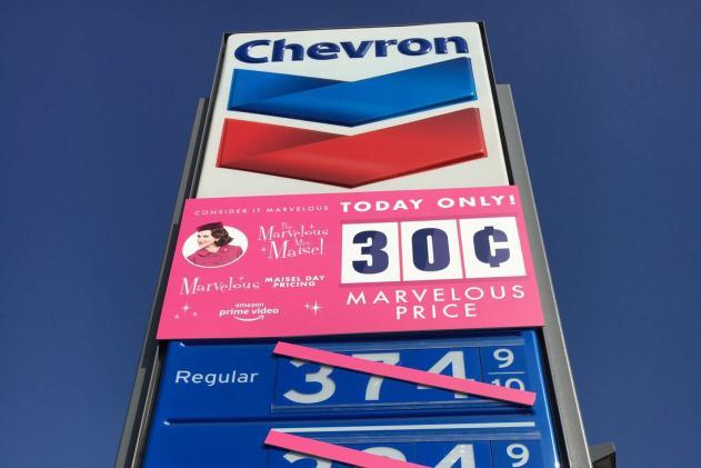 Cops put a stop to Amazon's 30-cent 'Mrs. Maisel' gas promo