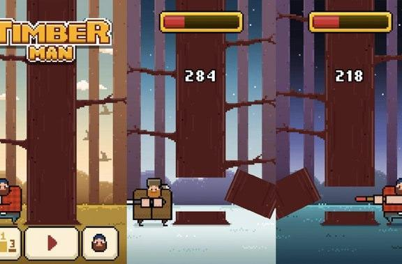 Timberman is all kinds of free, woodsy fun