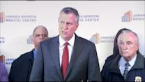 De Blasio, Bratton Discuss Shooting That Wounded Officer In Queens