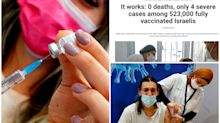 'It works': Israel hails zero COVID deaths in major study after vaccine rollout