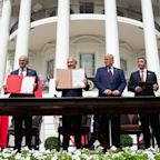 Trump hails 'new dawn' in Middle East as Israel, UAE and Bahrain sign diplomatic deal at White House