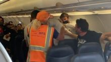 Passengers fight on flight after man refuses to wear mask