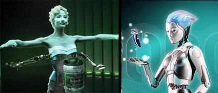 Adgadget: Fantasy fembots market male products