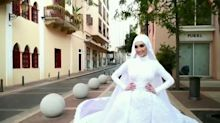 This bride's photo shoot was disrupted when the Beirut blast went off