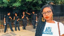 Mother wears 'Blue Lives Murder' T-shirt in front of police officers at Afropunk: 'Stop killing us'