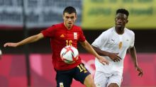 Olympics-Soccer-Spain overcome Ivory Coast in extra time to reach semis