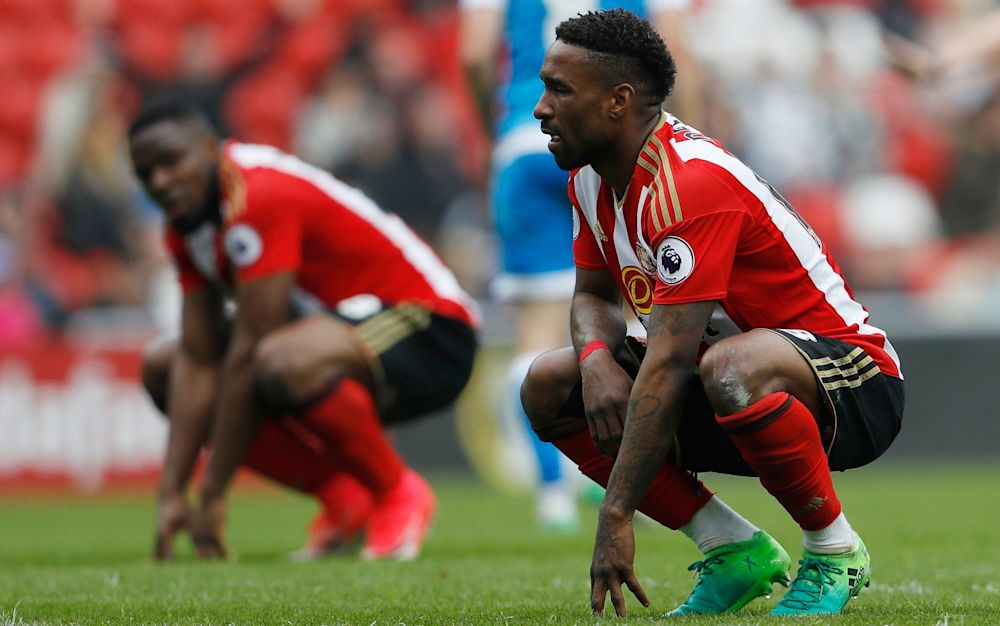 Jermain Defoe following Sunderland's defeat to Bournemouth on Saturday - REUTERS