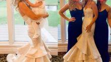 Sogra usa vestido branco no casamento do filho e viraliza nas redes sociais