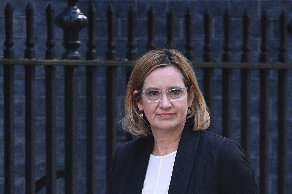 """""""The British police have been very clear that they want to control the flow of information in order to protect operational integrity... the element of surprise,"""" Â said Britain's Home Secretary Amber Rudd (AFP Photo/Justin TALLIS)"""