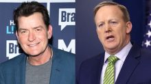 Charlie Sheen Wants Sean Spicer to 'Asphyxiate' With Ugly Tie